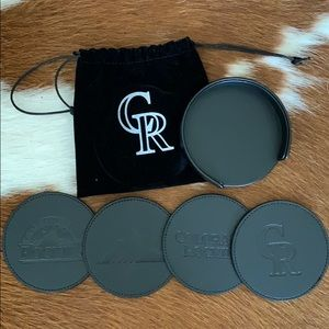 Colorado Rockies Collector Coaster Set